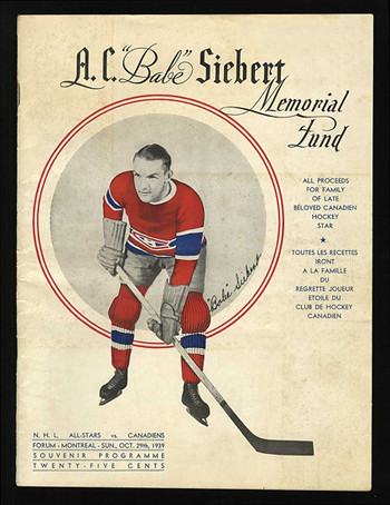Babe Siebert Memorial Game program