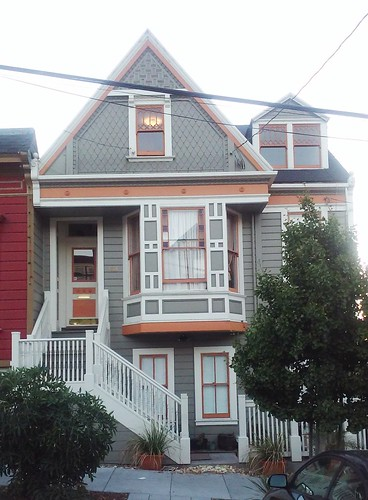 Queen anne style front facing gable decorative shingles for Queen anne windows