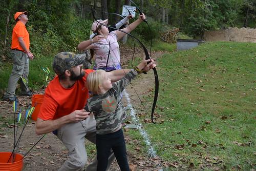 Photo of archery instruction