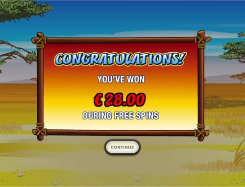 free Wild Gambler Mobile free spins prize