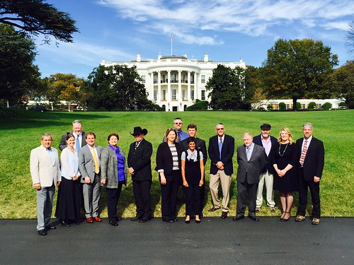 Champions of Change group in front of the White House
