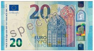 Mañana, miércoles, comienza a emitirse el nuevo billete de 20 euros