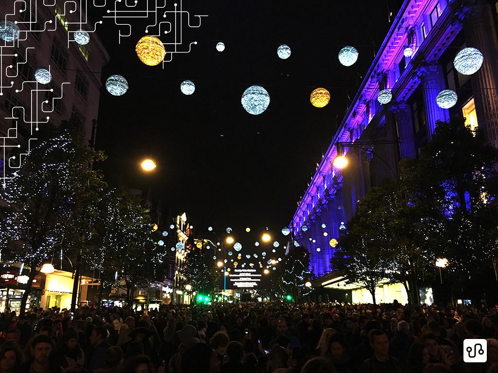 Luzes de natal da Oxford street