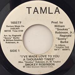 SMOKEY ROBINSON:I'VE MADE LOVE TO YOU A THOUSAND TIMES(LABEL SIDE-A)