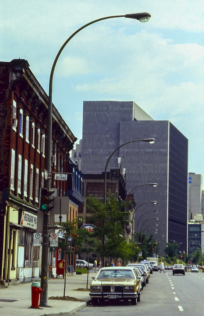 St-Antoine at Berri looking east 1989. by Ed Hawco on Flickr & Montreal in the 1990s - Page 3 - SkyscraperPage Forum