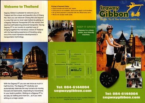 Brochure Segway Gibbon Chiang Mai Thailand 1