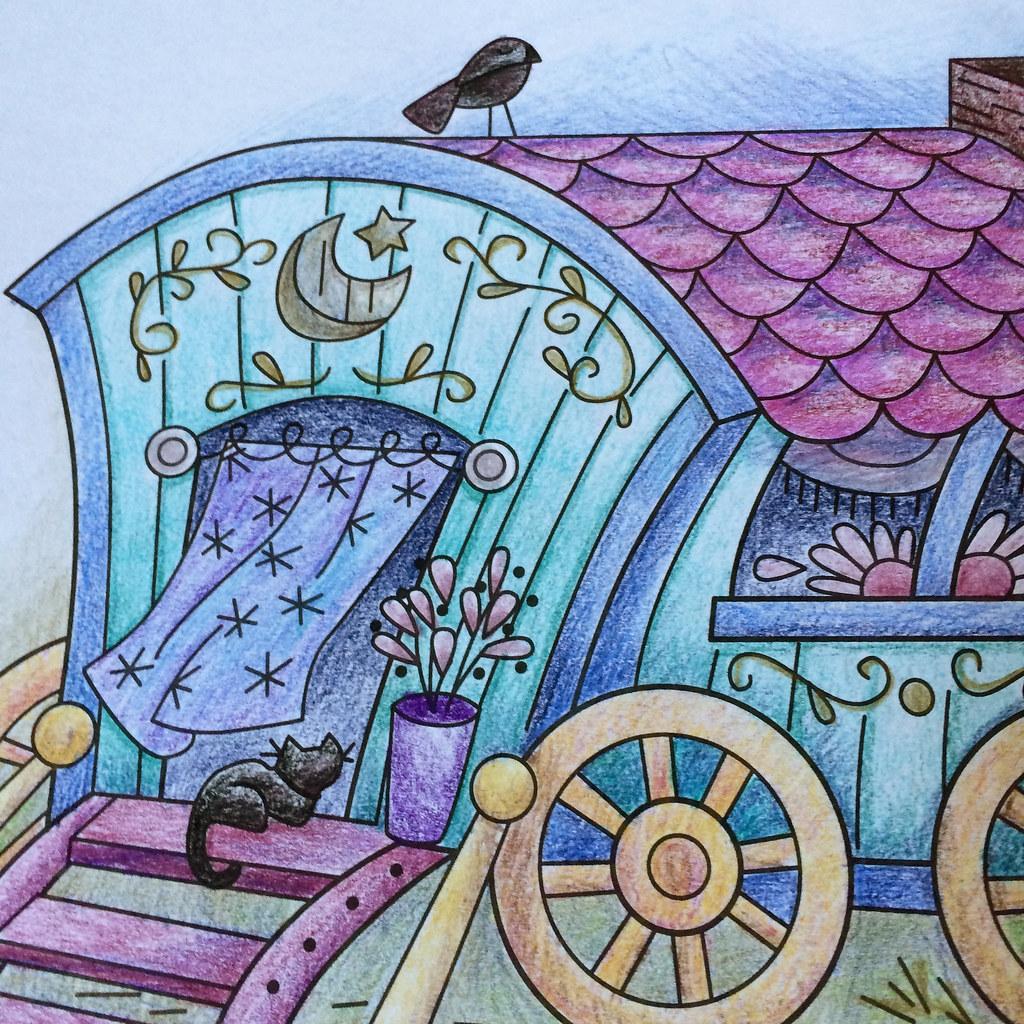 Gypsy wagon coloring page | littledeartracks.blogspot.com/20… | Flickr