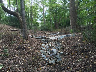 Stream restoration project along the South River.