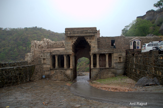 Small entrance before Ram Pol ( Gate) Kumbhalgarh Fort