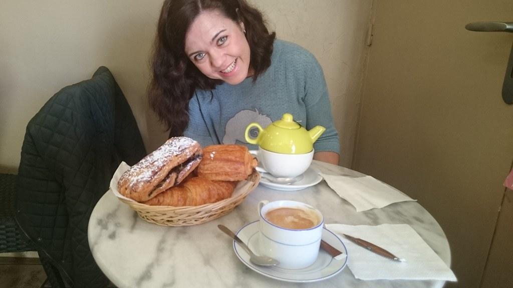 Desayunando en Carcassonne