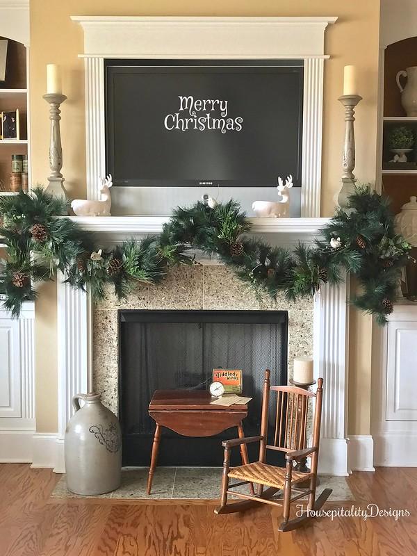 Media Room-Mantel-Christmas-Housepitality Designs