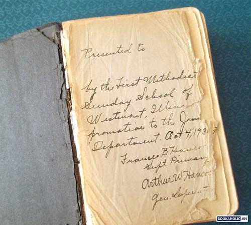 beautiful book inscription