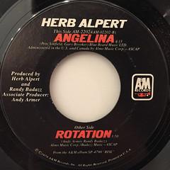 HERB ALPERT:ROTATION(LABEL SIDE-B)