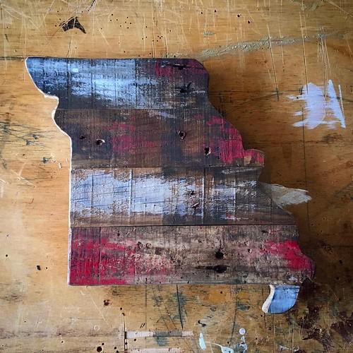 Missouri recycled pallet artwork/decor.