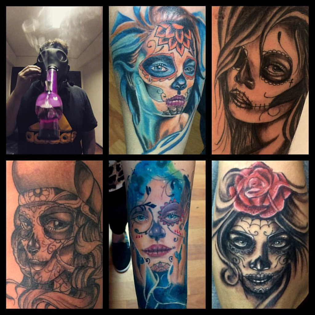 Santamuerte Muerte Tinta Tattoo Tattoos Tatuaje Kat Flickr