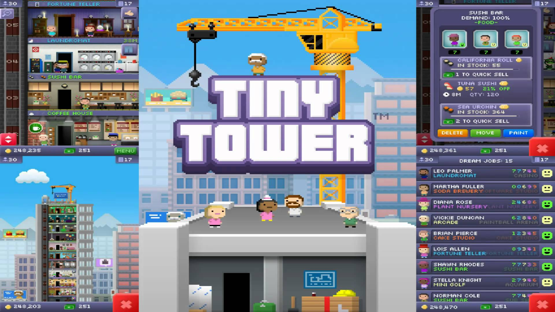 Saison 3 & Tiny Tower