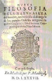 Portada del llibre d'Oliva Sabuco.