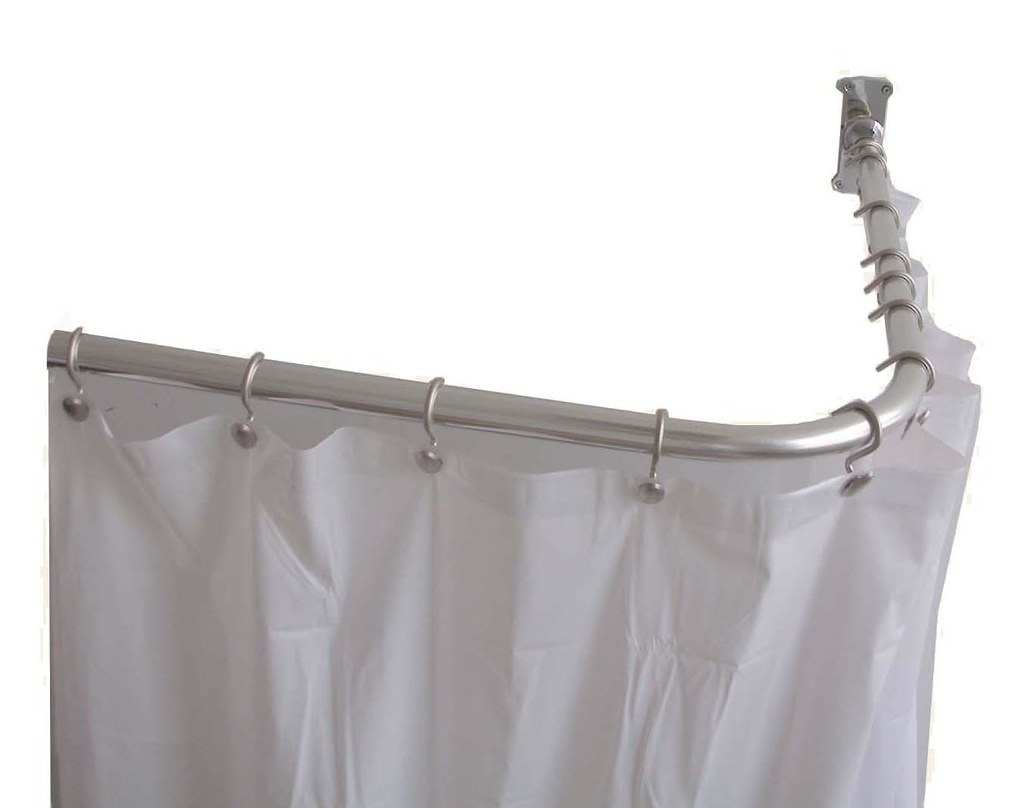 L Shaped Shower Curtain Rod Bathroomdecor With A Wide V