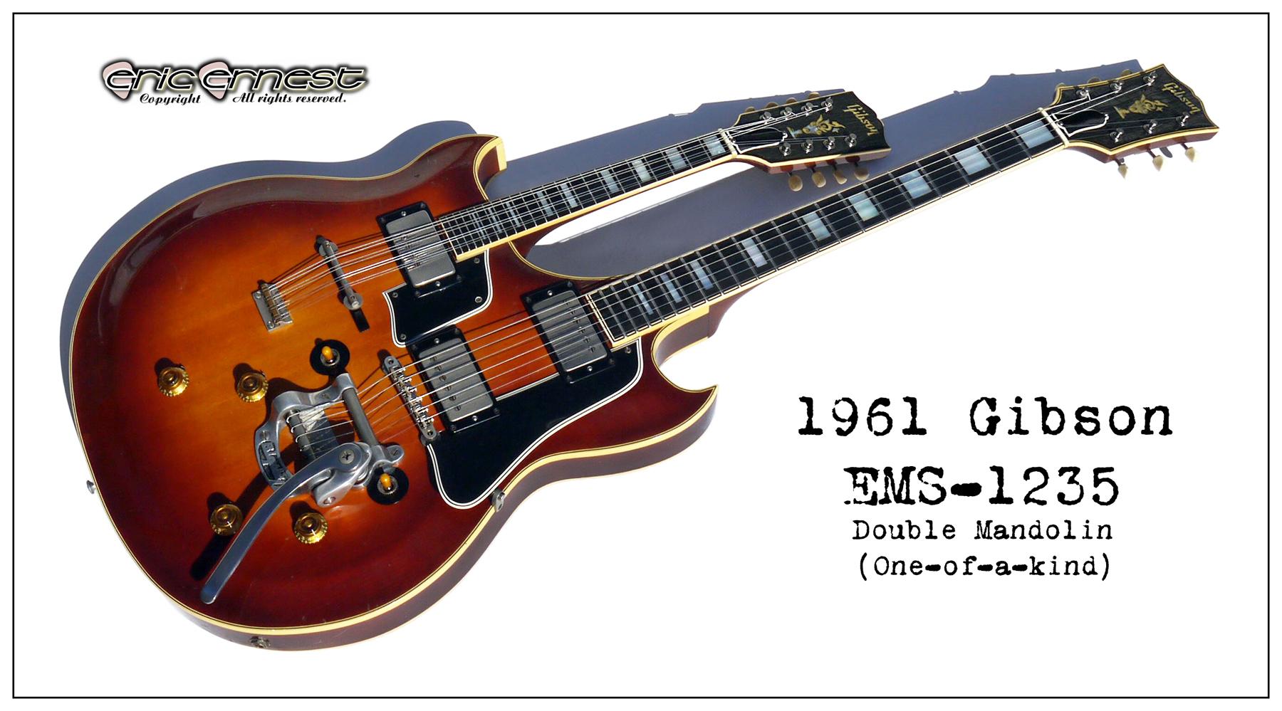 1957 1963 Gibson EMS-1235 double neck mandolin banjo octave
