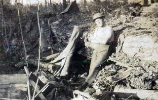 Jock Hanna in Sgts Mess after Bomb fell