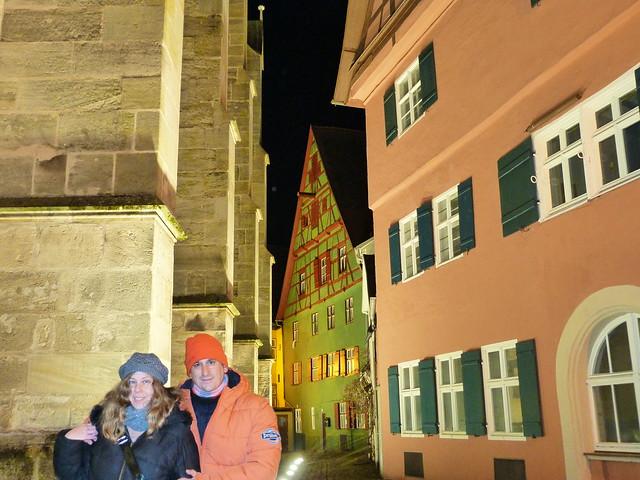 Sele y Rebeca en Dinkelsbühl (Norte de Baviera, Alemania)