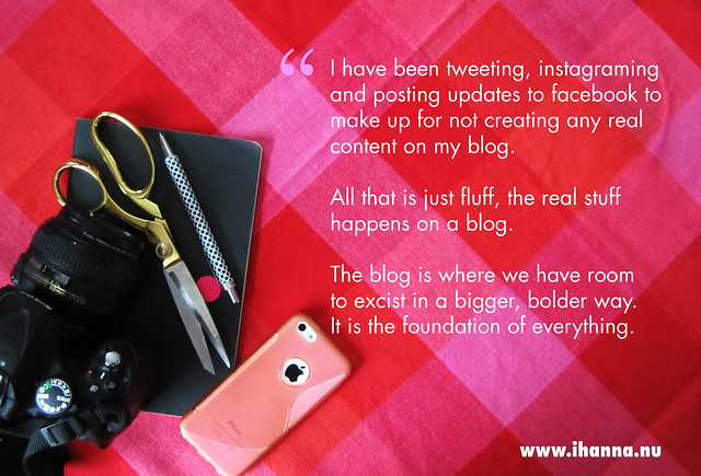 The blog is the foundation, swing by some time won't you?