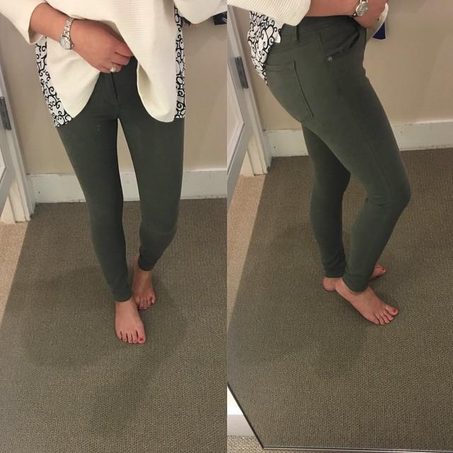 LOFT Sateen Five Pocket Leggings in Marisa Fit, size 26/2P