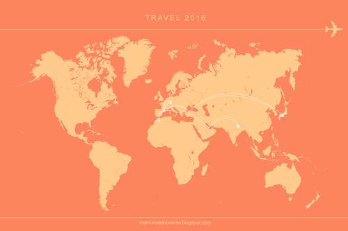 Travelmap 2016