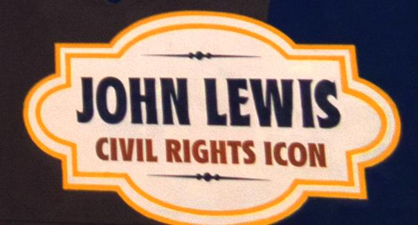 Mural of John Lewis--Atlanta (detail)