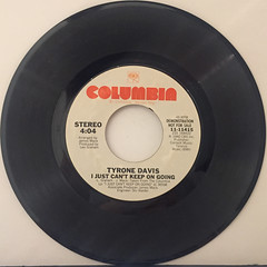 TYRONE DAVIS:I JUST CAN'T KEEP ON GOING(RECORD SIDE-A)
