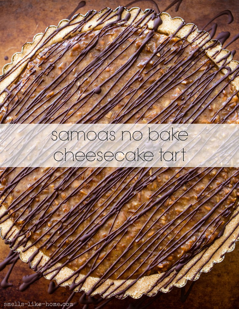Samoas No Bake Cheesecake Tart