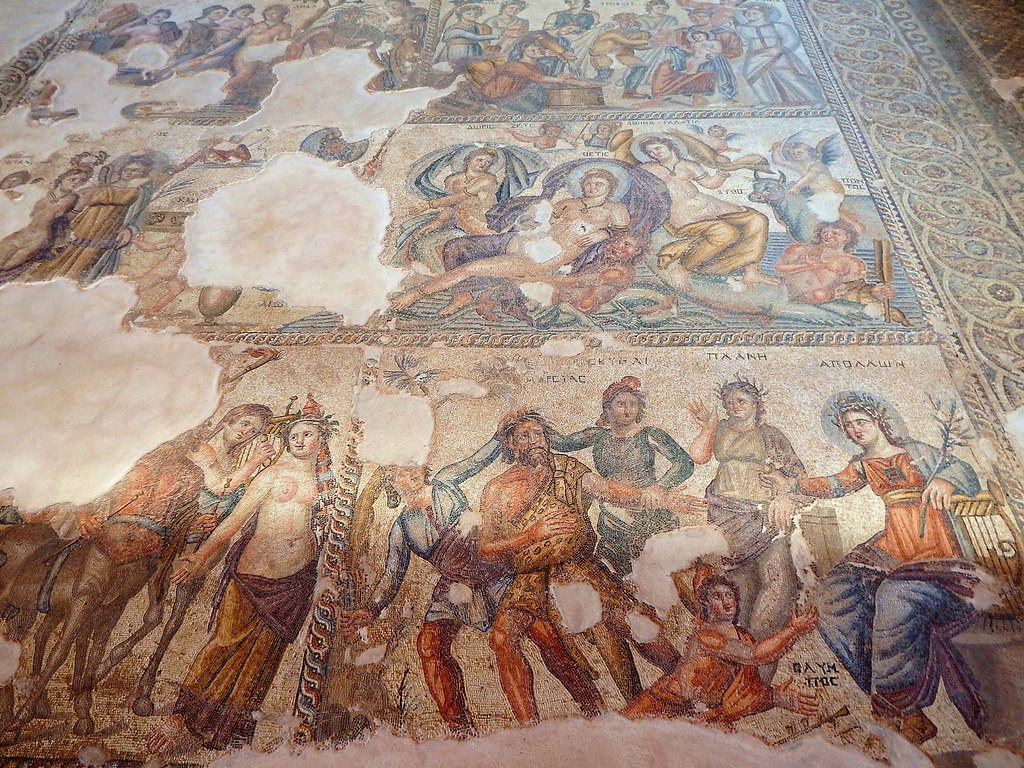 The Mosaic In The House Of Aeon Paphos Cyprus The