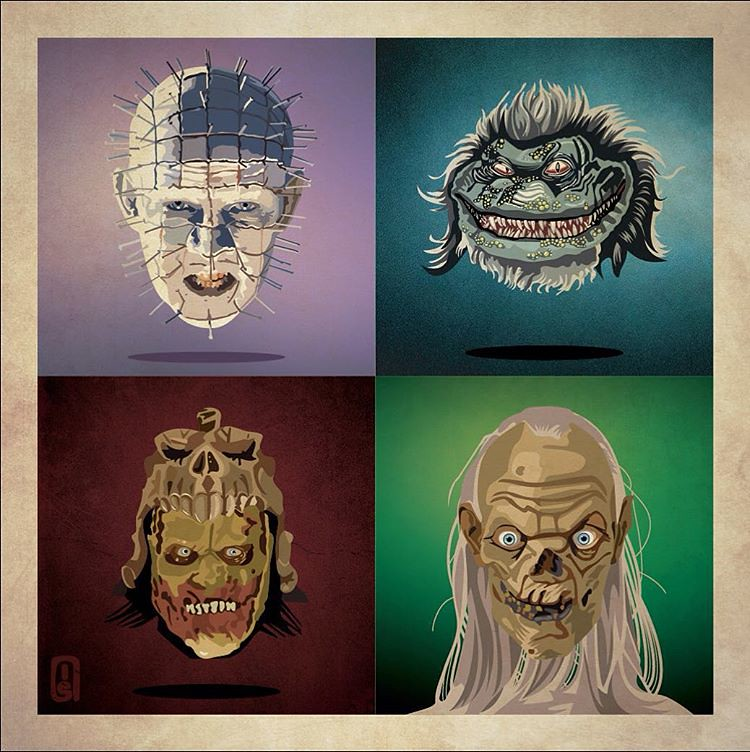 Hellraiser Pinhead, Critters, Evil Dead & Tales from the Crypt by Ian Skelton