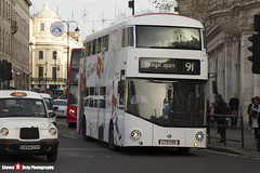 Wrightbus NRM NBFL - LTZ 1755 - LT755 - YouTube DT - Trafalger Square 91 - Metroline - London - 161126 - Steven Gray - IMG_4421