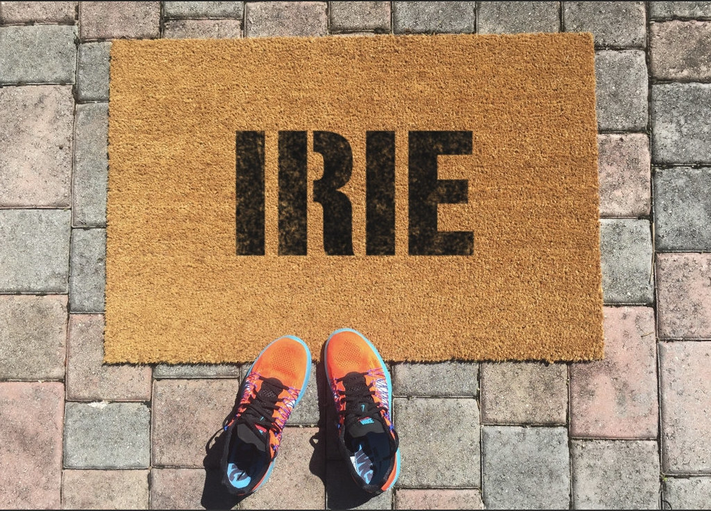 Irie Welcome Mat by One Summer Lifestyle on Etsy