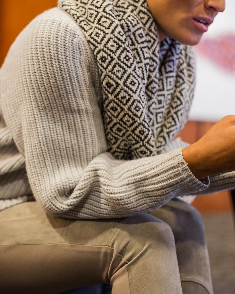 textures laine foulard