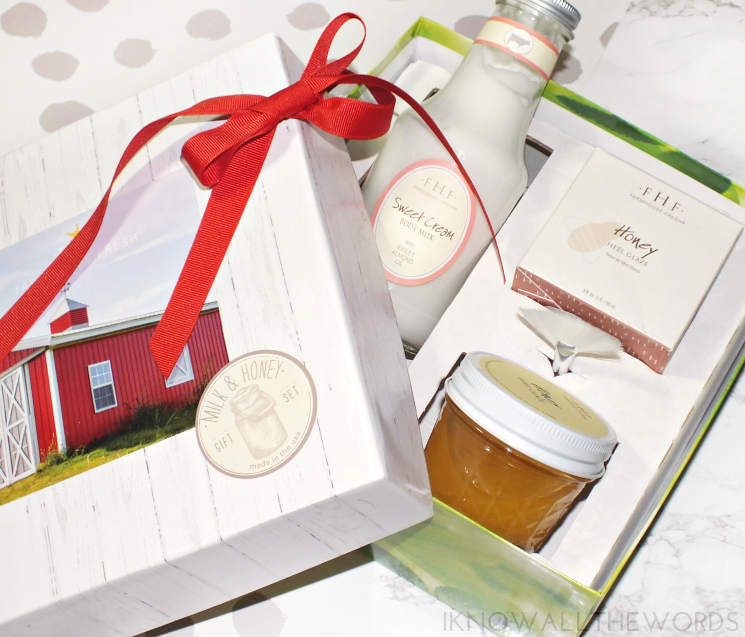 farm house fresh milk & honey gift set (3)