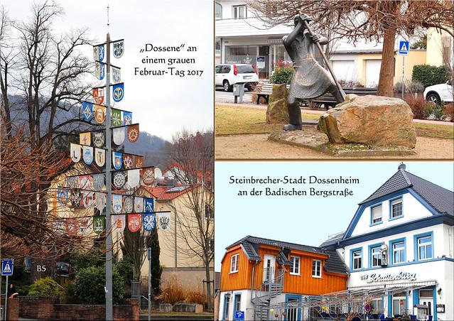 Dossenheim Steinbruch Steinbrecherstadt Badische Bergstraße Odenwald Partnerstadt Grau-du-Roi ... Impressionen vom Februar 2017 ... Foto: Brigitte Stolle, Mannheim