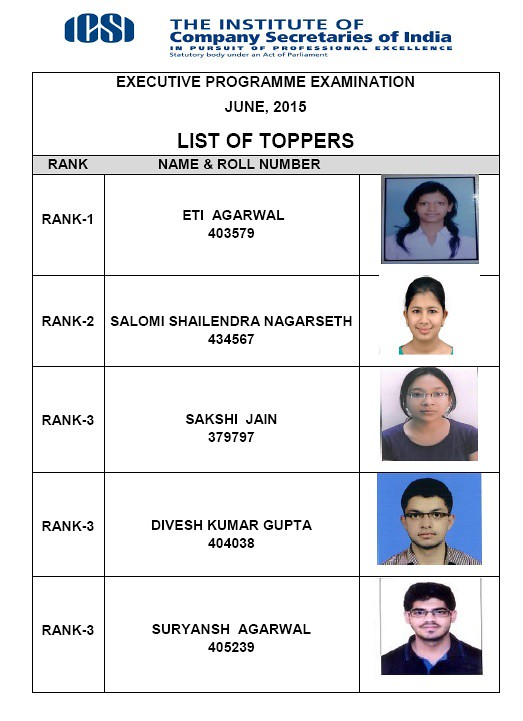 CS Executive Toppers