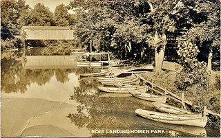 Homer Park Boat Landing, ca. 1920 | by The Urbana Free Library Digital Collections