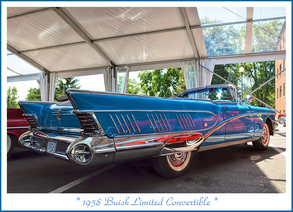 1958 Buick Limited Convertible Photographed At The July