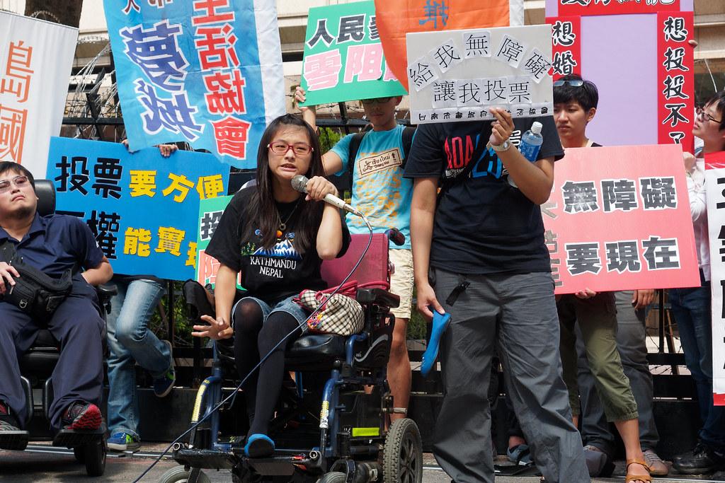年輕障礙者願意站出來發聲,為千障盟「生活就是政治」的選舉平權倡議注入了新活力。(攝影:林佳禾)