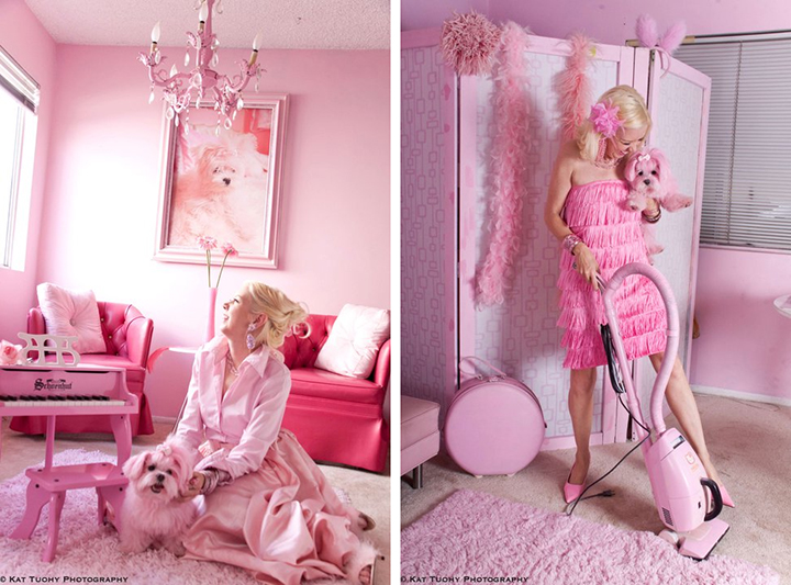the pink lady of hollywood foreverpetite. Black Bedroom Furniture Sets. Home Design Ideas