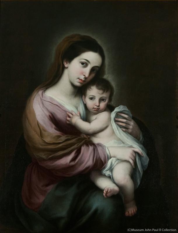 ルカス・クラーナハ(子)《聖母子》(制作年不詳、ヨハネ・パウロ2世美術館蔵)