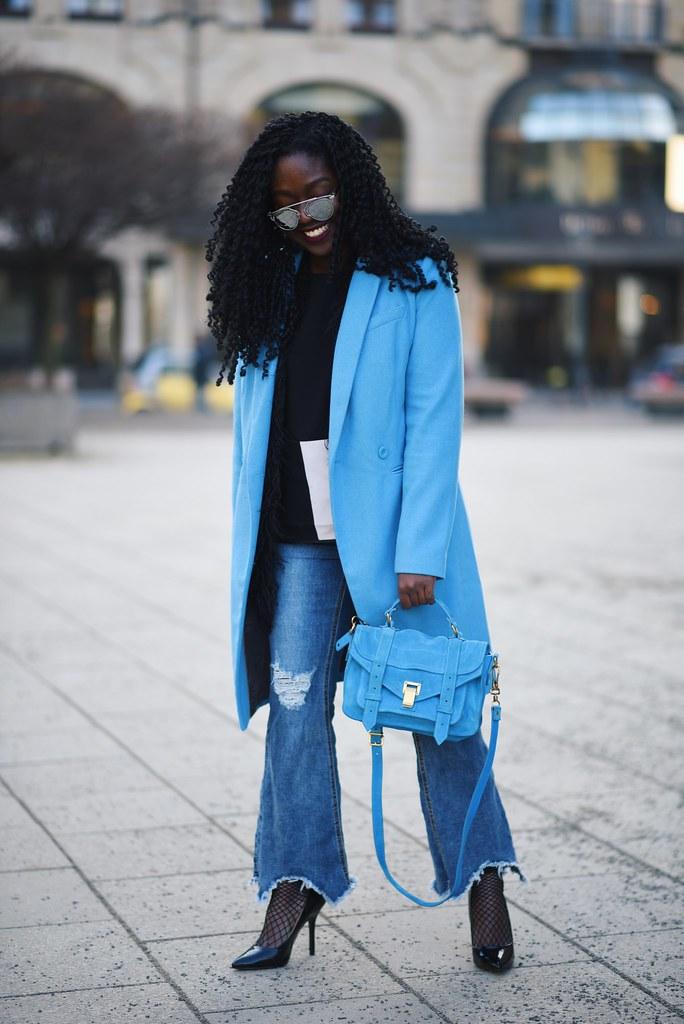 Blue coat Proenza Schouler ps1 Lois opoku