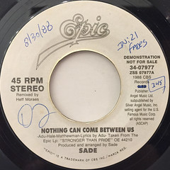 SADE:NOTHING CAN COME BETWEEN US(LABEL SIDE-A)