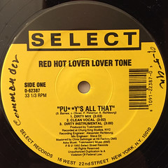 RED HOT LOVER LOVER TONE:PUSSY'S ALL THAT(LABEL SIDE-A)