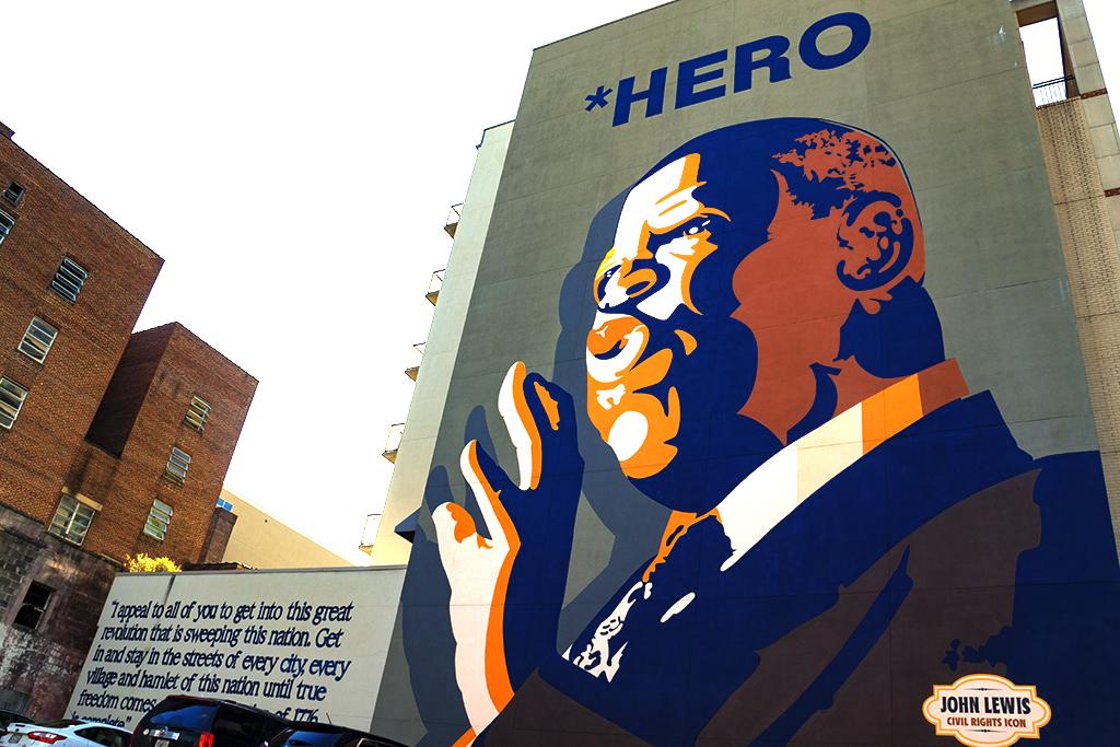 Mural of John Lewis--Atlanta