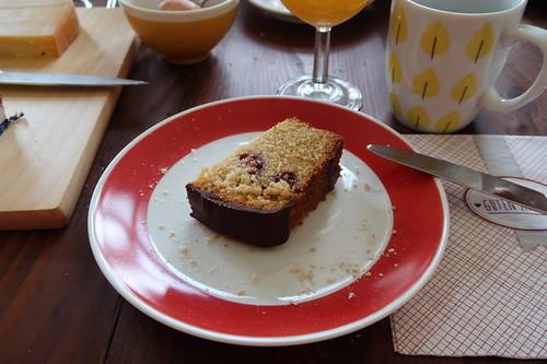 Stück vom Schoko-Kirsch-Kuchen
