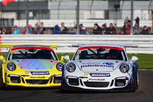 Nerijus Dagilis, Rupert Martin, Porsche Carrera Cup GB, Silverstone 2015
